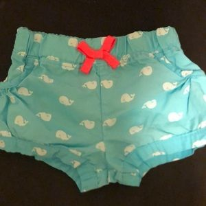 Adorable teal whale shorts!